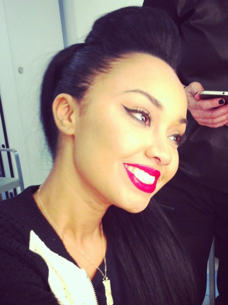 Leigh-Anne smiling with her new hair