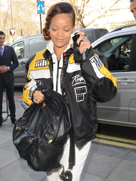 Rihanna in London for River Island launch