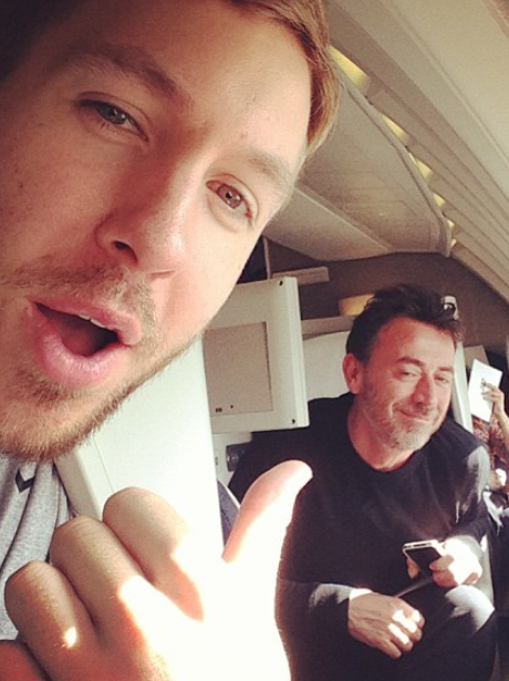 Calvin Harris flying out to Dallas in Texas