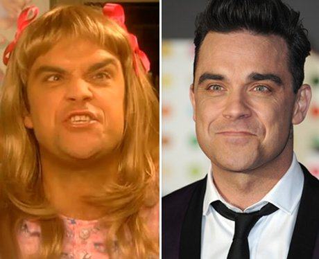 Robbie Williams dressed as a woman in Little Britain