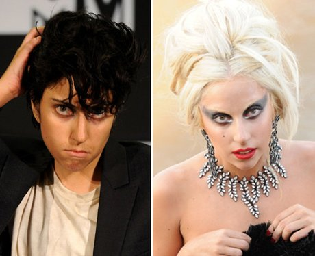 Lady Gaga dressed as Jo Calderone