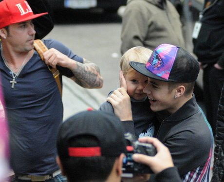 Justin Bieber with his brother