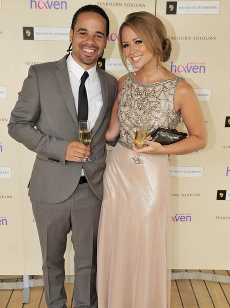 Kimberley Walsh and Justin Scott out together