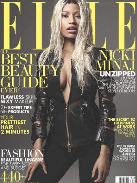 Nicki Minaj on the cover of Elle Magazine