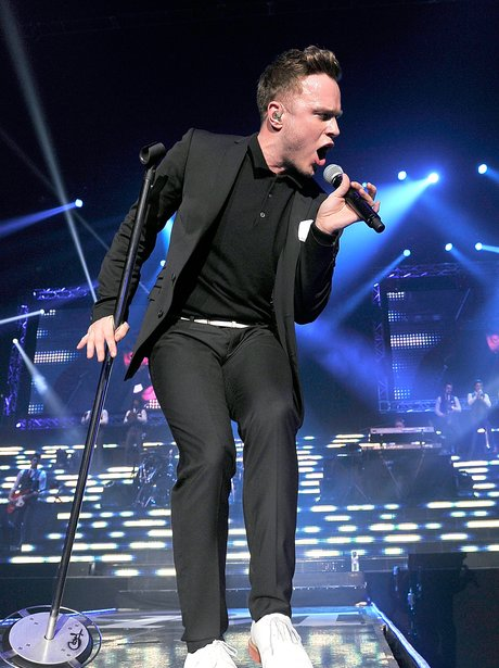 Olly Murs performs on stage