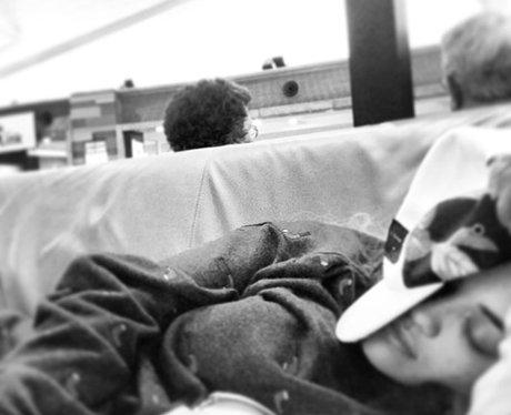 Rita Ora sleeping during her Australia trip