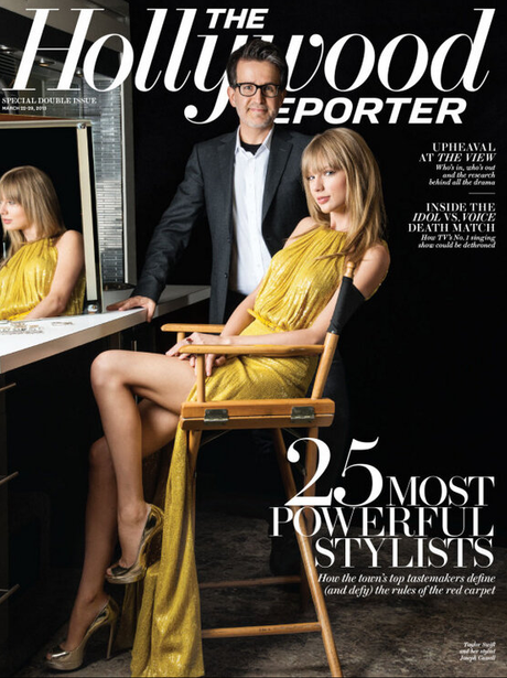 Taylor Swift on the cover of The Hollwood Reporter