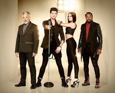 The Voice UK judging panel in 2013
