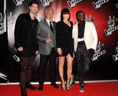 The Voice UK judges pose on the red carpet
