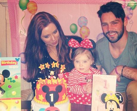 Una Healy and Ben Foden celebrate daughter's birthday