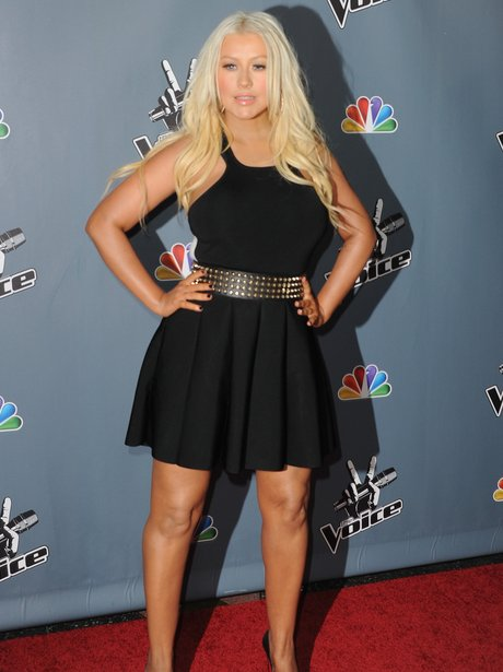 Christina Aguilera arrives at The Voice