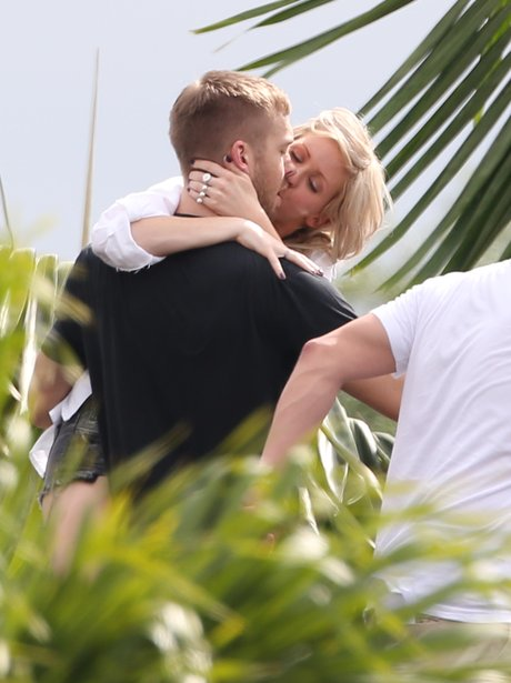 Ellie Goulding and Calvin Harris filming video