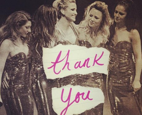 Girls Aloud split thank you note