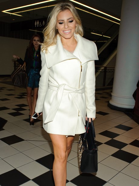Mollie King shows off her legs
