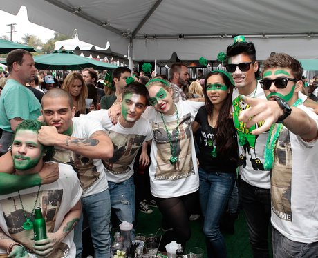 The Wanted celebrate St Paddys day