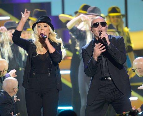 Christina Aguilera and Pitbull Kids Choice Awards