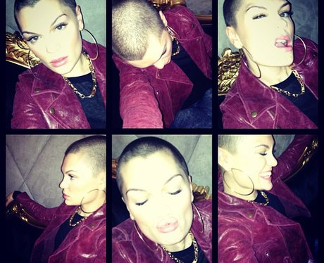 Jessie J shows off her shaved hair