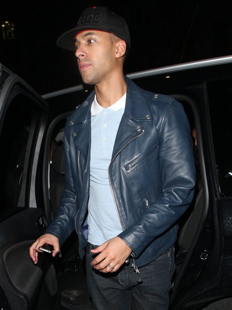 Marvin Humes on a night out