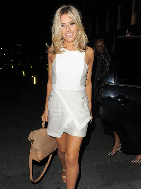 Mollie King from The Saturdays on a night out