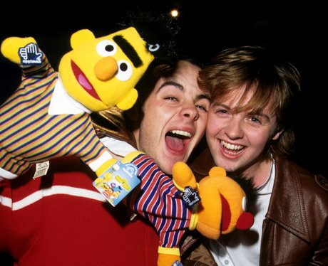 PJ and Duncan with Bert and Ernie from Sesame Street