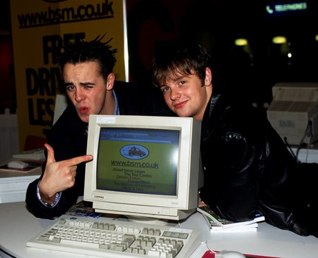 PJ and Duncan with a computer