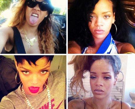 Rihanna Selfies