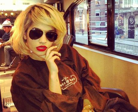 Rita Ora shows off a new bob hairstyle