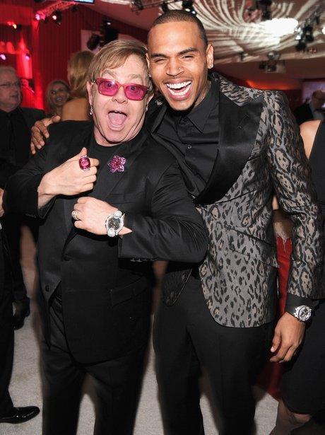Chris Brown And Sir Elton John