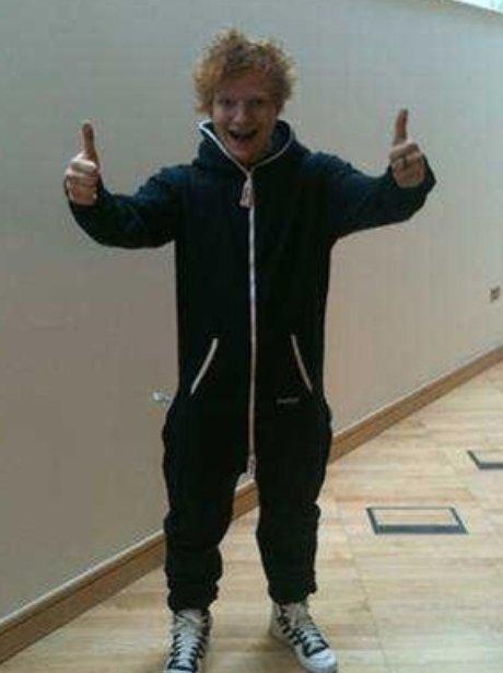 Ed Sheeran in a onesie
