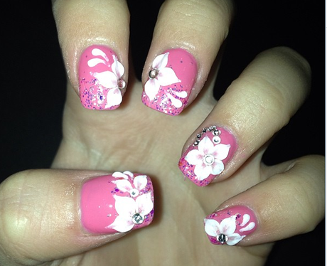 Amelia Lily's pink nails