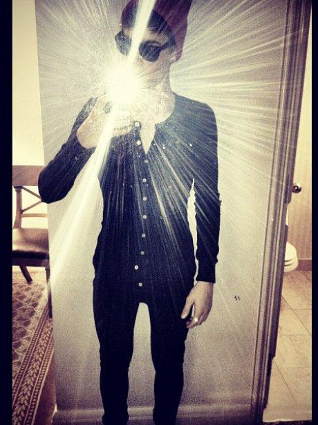 Justin Bieber in a onesie