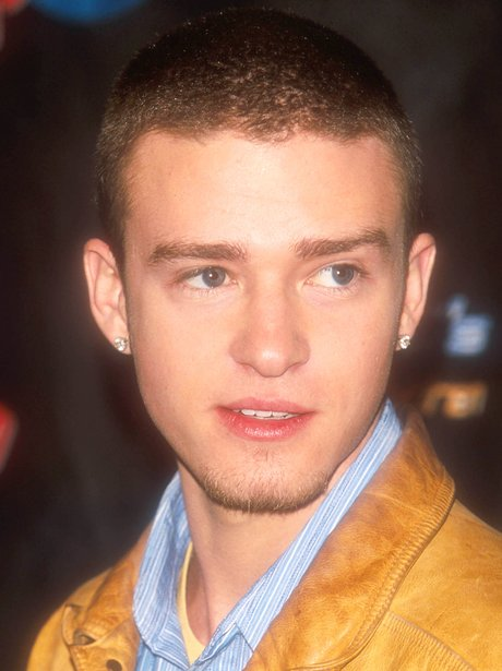 Justin Timberlake With Shaved Head In 2000