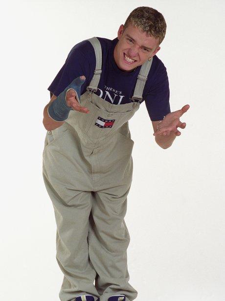 Justin Timberlake wearing Tommy Hilfiger dungarees