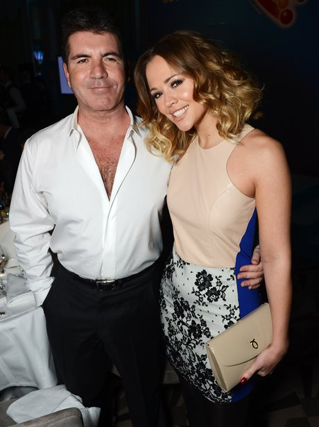 Kimberley Walsh and Simon Cowell attend a Claridges event