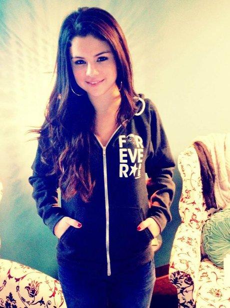 Selena Gomez in a onesie