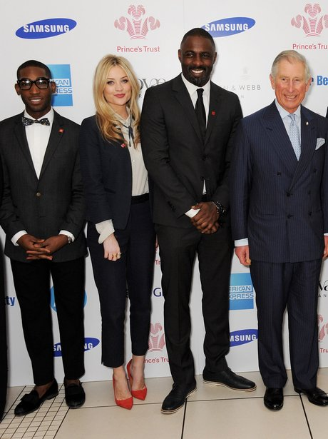 Tinie Tempah with Prince Charles at a Prince's Trust event