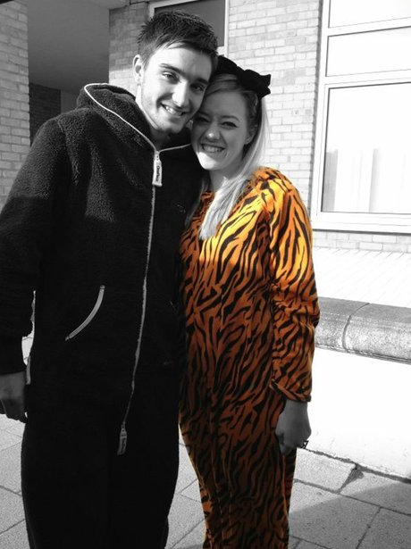 The Wanted's Tom Parker in a onesie
