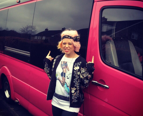 Amelia Lily on her tour bus