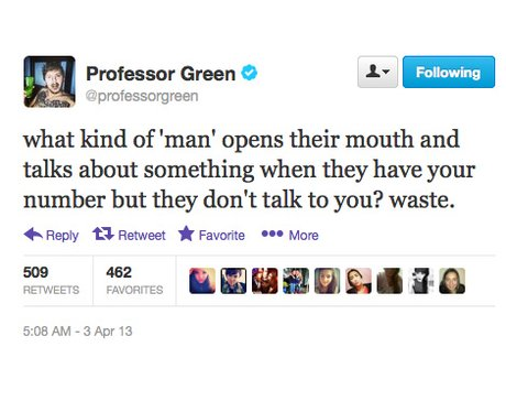 Professor Green hits out on Twitter