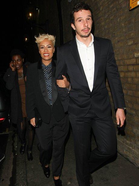Emeli Sande and Adam Gouraguine at Music Week Awards 2013