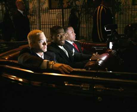 eminem driving car with 50 Cent