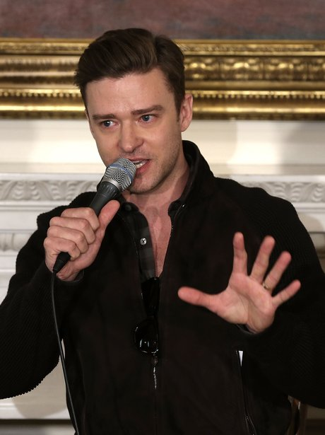 Justin Timberlake at the white house