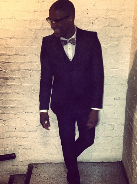 Labrinth wearing a suit