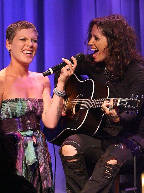 Linda Perry and Pink