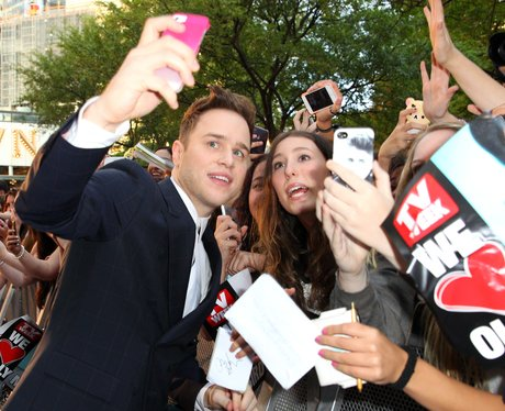 Olly Murs with fans in Australia
