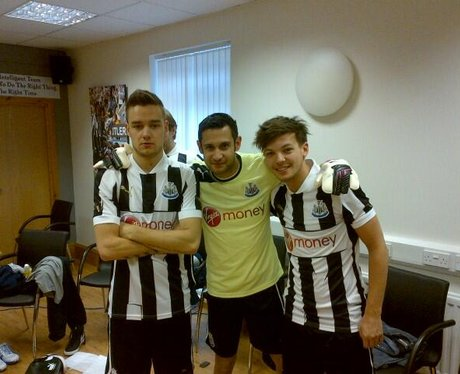 One Direction at newcastle training ground