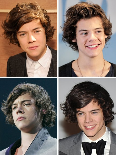 Harry Styles - Curly hair