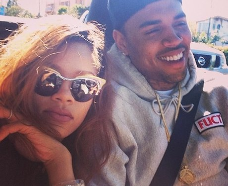 Rihanna and Chris Brown driving around LA