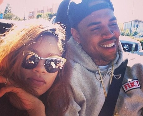 Rihanna and Chris Brown on Instagram