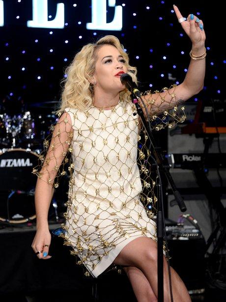 Rita Ora performs onstage